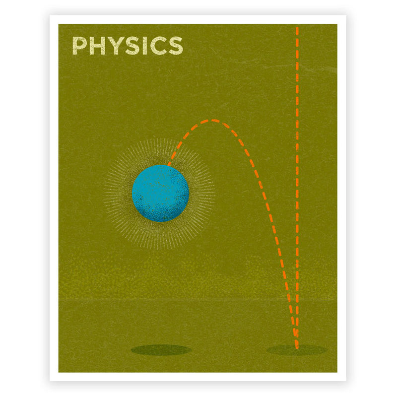 Wall Art for Girls Room Art for Boys Room - Physics Art Print 8 in x 10 in Retro Science Art Print - Print for Boys Room - Kids Wall Art - product images