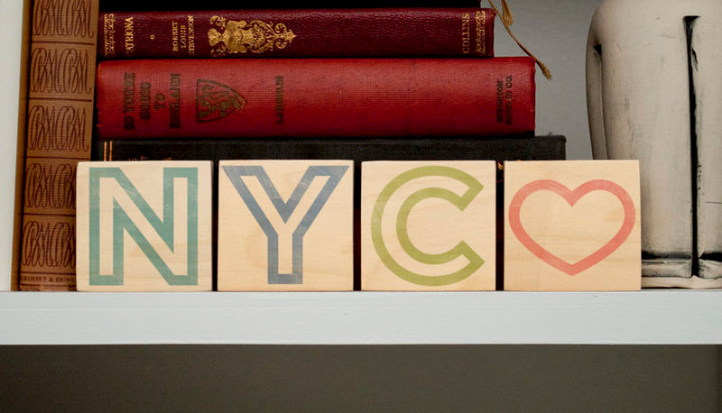 Unique Gift Idea- New York City Art- City Love Letter Art Blocks ...