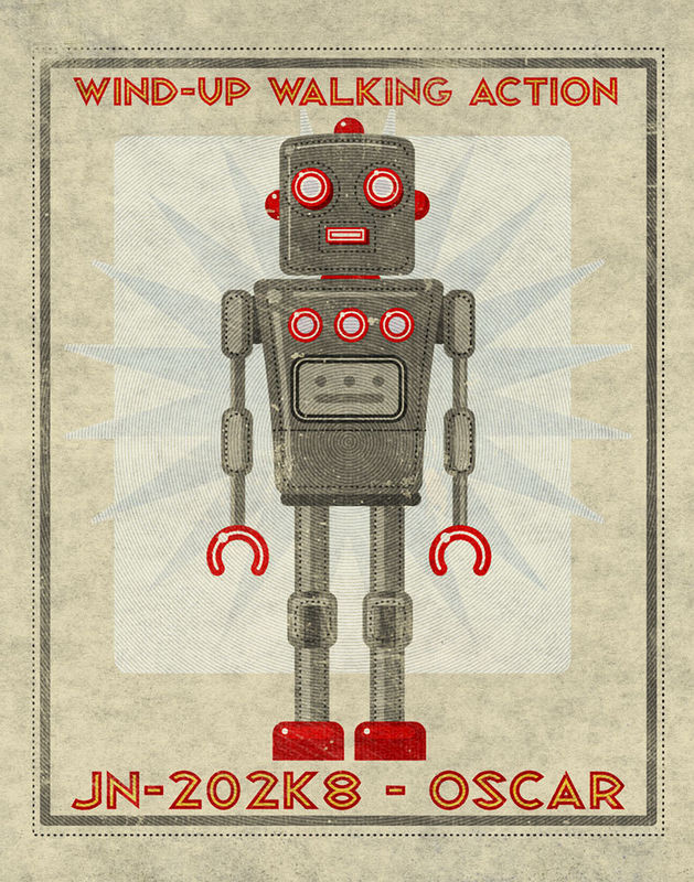 Oscar Box Art Robot Print 11