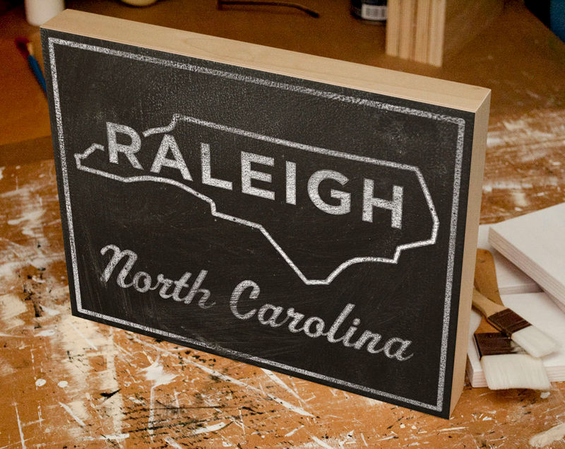 Raleigh art box college town print 11 x 14 north carolina custom raleigh art box college town print 11 x 14 north carolina custom state print state map art nc state graduation gift grad gift john w golden art negle Images