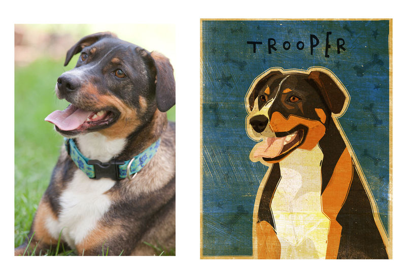 Custom Dog Portrait - product images  of
