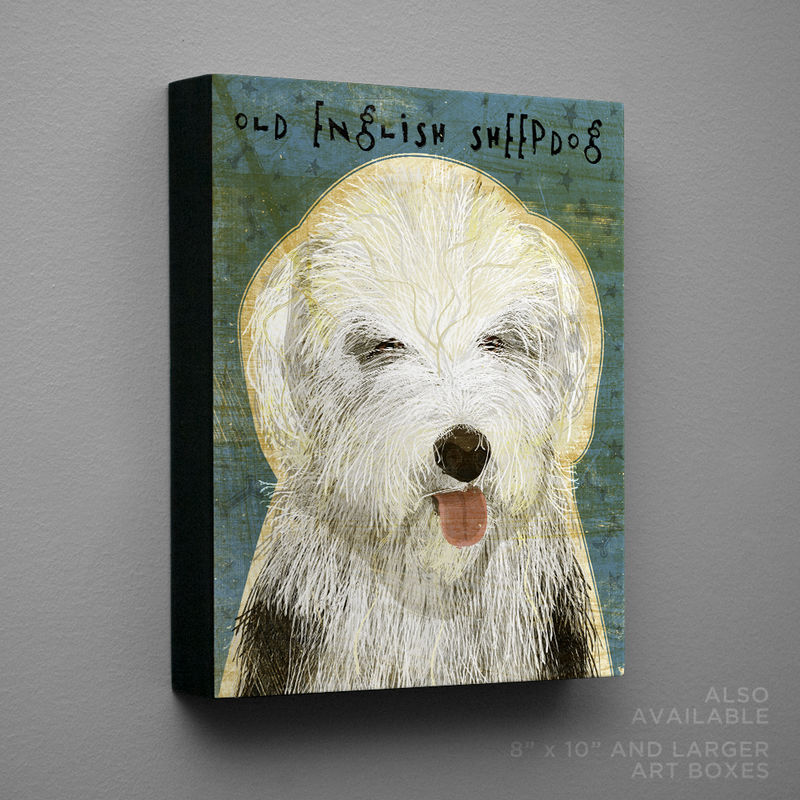 Old English Sheep Dog Art Block or Box - product images  of