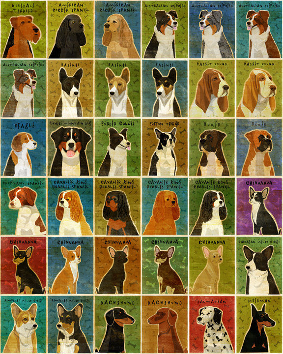 Personalize Your Pooch - Dog Art Print - 11 in x 14 in - product images  of