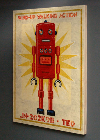 Retro,Robot,Tin,Toy,Art,Box,16,in,x,20,retro_robot,tin_toy,illustration,print,digital,john_w_golden