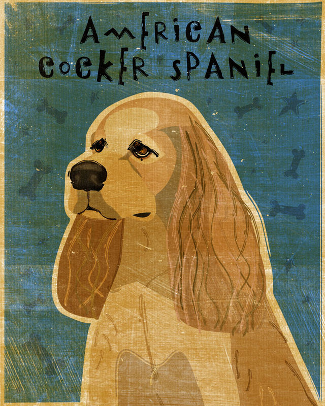 American Cocker Spaniel - Black or Buff - Print - product images  of