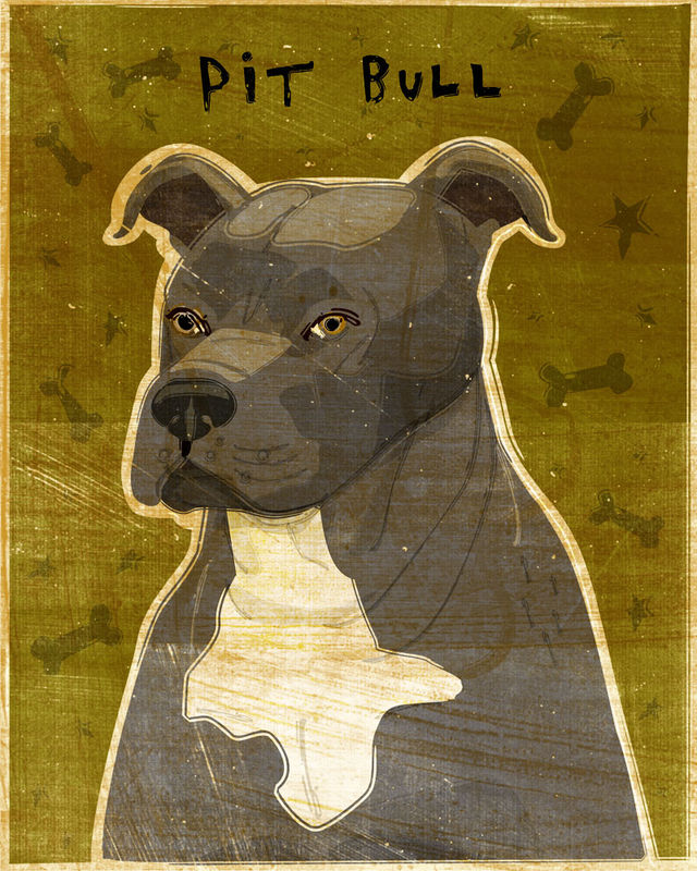 American Pit Bull Terrier Print - Various Colors  - product images  of
