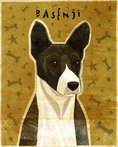 Basenji,Print,-,Various,Colors,Art,Illustration,digital,whimsical,cute,dog,animal,basenji,black,red,tri-color,paper,ink