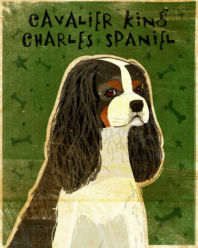 Cavalier King Charles Spaniel Print - Various Colors - product images  of