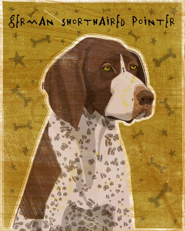 German Short-Haired Pointer Print - Various Colors - product images  of
