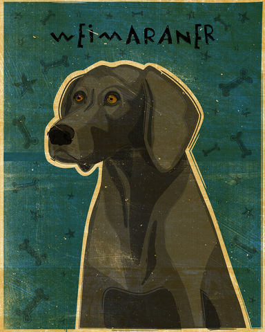 Weimaraner,Print,-,Various,Colors,and,Sizes,Art,Illustration,digital,whimsical,cute,dog,animals,animal,weimaraner,paper,ink