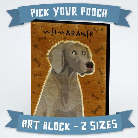 Dog,Series,Art,Block,-,Weimaraner,Various,Sizes,Illustration,Digital,wood,block,dog,breed,animal,weimaraner,glue,paper,ink,sealer