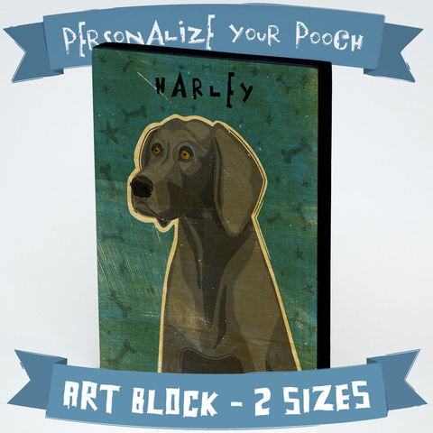 Personalized,Dog,Series,Art,Block,-,Weimaraner,Various,Sizes,Illustration,Digital,wood,block,dog,breed,animal,weimaraner,glue,paper,ink,sealer