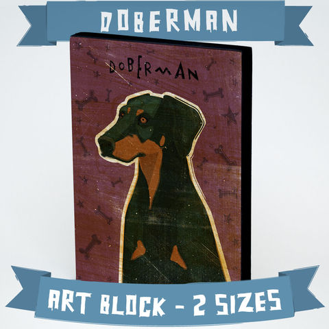 Dog,Series,Art,Block,-,Doberman,with,Breed,Name-,Various,Sizes,Illustration,Digital,wood,block,dog,breed,animal,doberman_pinscher,glue,paper,ink,sealer