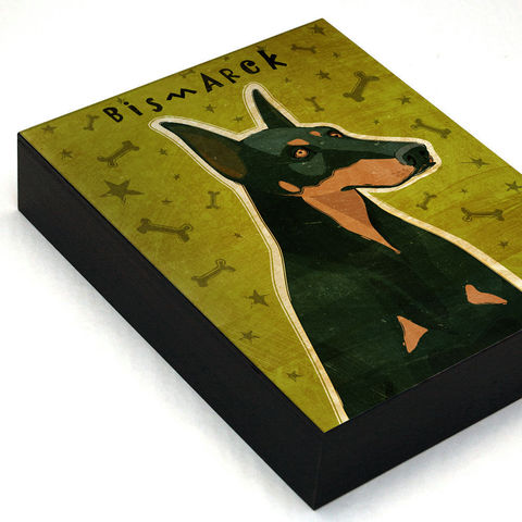 Personalized,Dog,Art,Box,-,Doberman,with,Your,Dog's,Name,Mounted,Print,Various,Sizes,Illustration,Digital,wood,reproduction,print,mounted,dog_art,art_box,dog_art_box,paper,ink,glue,sealer,doberman