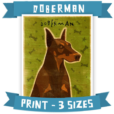 Doberman,Print,-,Pick,Your,Pooch,Dog,Art,with,Breed,Name,Various,Sizes,Pets,Pet_Lover,Portrait,dog,art,illustration,reproduction,canine,breed,fido,pooch,pup,puppy,dog_print,dog_art,southern_living,paper,ink