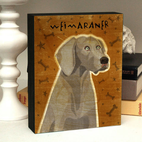 Dog,Art,Box,-,Weimaraner,Mounted,Print,Various,Sizes,Illustration,Digital,wood,reproduction,print,mounted,dog_art,art_box,dog_art_box,paper,ink,glue,sealer,weimaraner