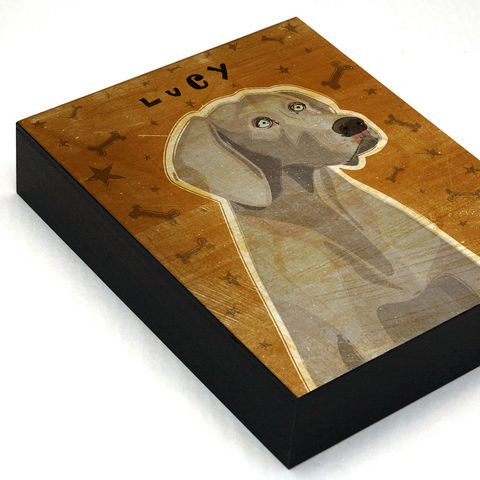 Personalized,Dog,Art,Box,-,Weimaraner,with,Your,Dog's,Name,Mounted,Print,Various,Sizes,Illustration,Digital,wood,reproduction,print,mounted,dog_art,art_box,dog_art_box,paper,ink,glue,sealer,weimaraner