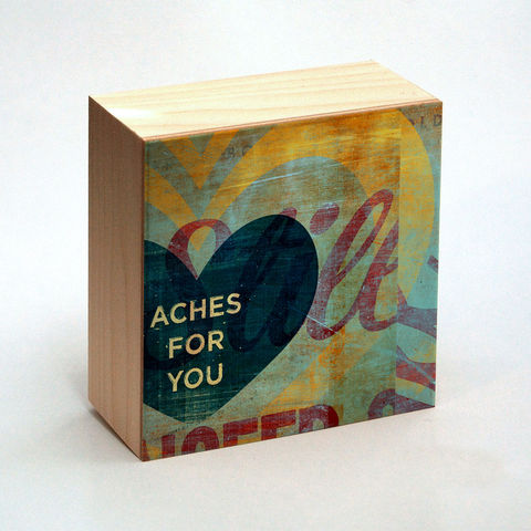Valentine,Heart,Art,-,Aches,for,You,Box,4,in,x,Illustration,Digital,reproduction,wood,block,heart,love,valentine,valentine_men,valentine_women,valentines_day,valentine_decor,valentine_heart_art,paper,ink,glue,sealer