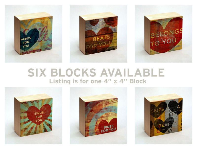 Valentine Heart Art - Aches for You Art Box - 4 in x 4 in - product images  of