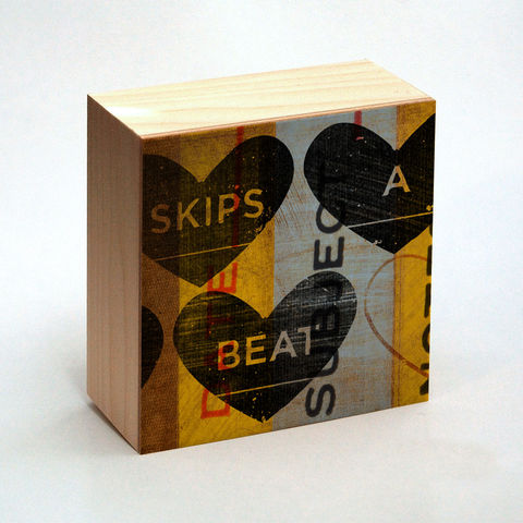 Valentine,Heart,Art,-,Skips,a,Beat,Box,4,in,x,Illustration,Digital,reproduction,wood,block,heart,love,valentine_gift,valentine_men,valentine_women,valentines_day,valentine_decor,valentine_heart_art,paper,ink,glue,sealer,valentine gift,gift for valentine,great gifts, valentines gift,valentine