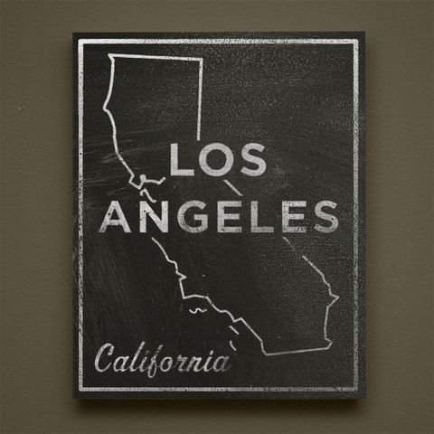 Los,Angeles,City,State,Art,Box,-,11,in,x,14,LA,Print,Chalkboard,Custom,Print,,California,Chalkboard Art, Los Angeles Art, City Print, Vintage Look Art, Minimalist Art, Typography Art, Honeymoon Gift, United States Cities, Dorm Room Art, Living Room Office, Wedding Gift, Custom State Print, California State Art