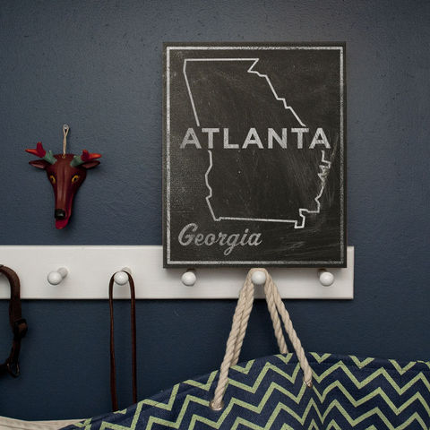 Atlanta,City,State,Art,Box,-,11,in,x,14,Print,Chalkboard,Custom,Print,,Georgia,Chalkboard Art, Atlanta Art, City Print, Vintage Look Art, Minimalist Art, Typography Art, Honeymoon Gift, United States Cities, Dorm Room Art, Living Room Office, Wedding Gift, Custom State Print, Georgia State Art