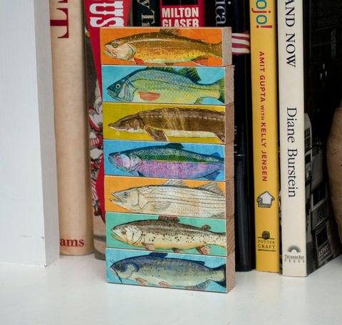 Fish,Art,-,Sticks,Freshwater,Block,Set,of,7,Coastal,Beach,Decor,House,Fathers,Day,Gift,for,Dad,Print,Digital,Fathers_Day_Gift,Beach_Home_Decor,Beach_House_Art,Fish_Gifts,Wood_Art_Block,Fisherman_Gift,Fish_Decor,Coastal_Beach_Decor,Coastal_Art,Gift_For_Dad,Freshwater_Fish_Art,Dad_Gift,paper,ink,wood,glue,sealer