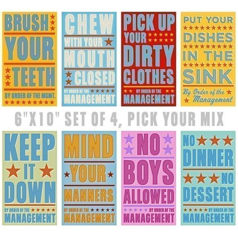 By,Order,of,The,Management,Set,4,Prints,-,Pick,your,Mix,6,in,x,10,Children,Art,Print,kids,kid,print,paper,cute,sign,digital,toddler,art,nursery,nursery decor,baby nursery decor,baby room decor,girls room decor,childrens room decor,children room decor,toddler room decor,artwork kids,artwork for kids,wall decor kids