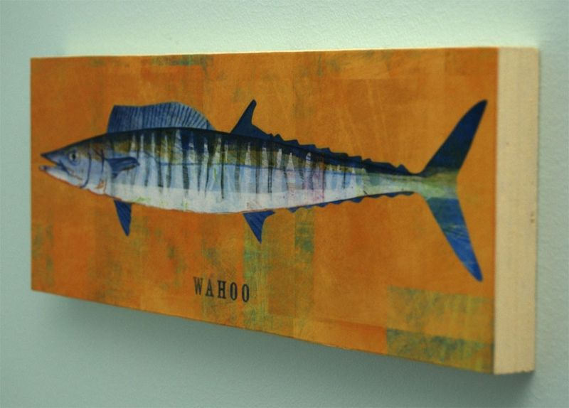 Saltwater Fish Series Large Art Block - Pick the Print - 4 in x 11 in - product images  of