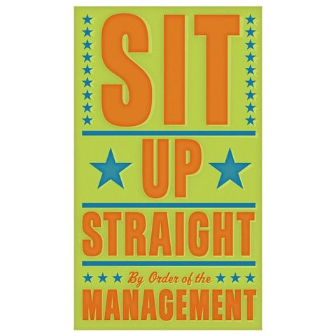 Sit,Up,Straight,Print,6,in,x,10,Children,Art,art,illustration,print,digital,john_w_golden,sit,straight,green,orange,paper,computer