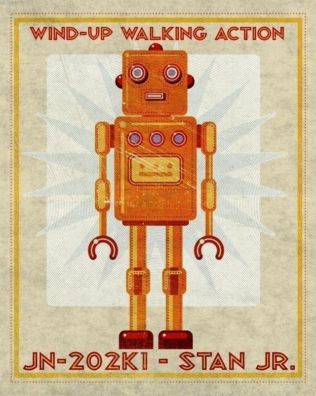 Stan Jr Box Art Robot Print - product images  of