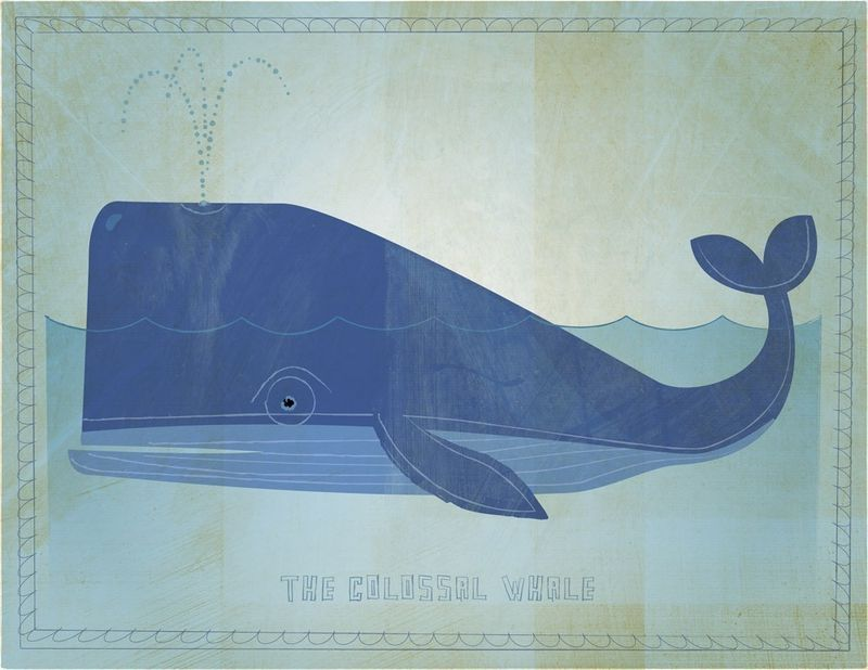 The Colossal Whale Print 8 in x 10 in - product images  of