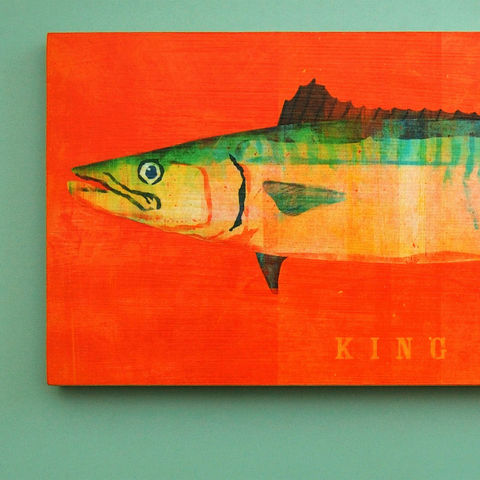 Saltwater,Fish,Series,-,The,Big,One,Art,Block,Pick,the,Print,6.5,in,x,18,Reproduction,Digital,wood,block,saltwater,fish,dad,dude,fathers_day,gift,paper,ink,glue,sealer