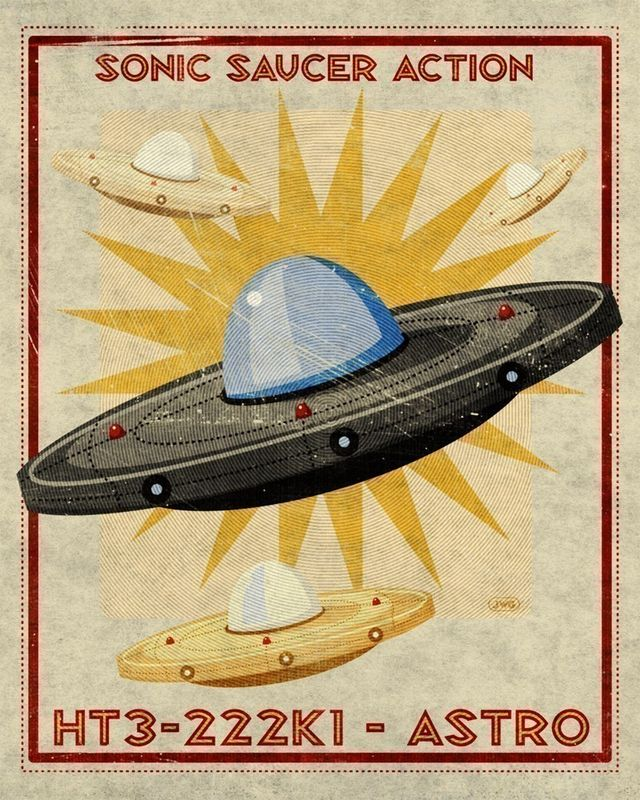 Astro Sonic Saucer Box Art Print 8x10 - product images  of