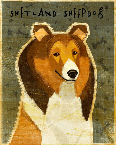 Shetland,Sheepdog,-,Red,Dog,Art,Print,8,in,x,10,Illustration,whimsical,cute,animals,dog_art,pet,puppy,Dog_Print,shetland_sheepdog,sheltie,paper,ink