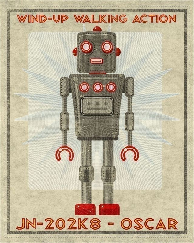 Oscar Box Art Robot Print 8 in x 10 in - product images  of