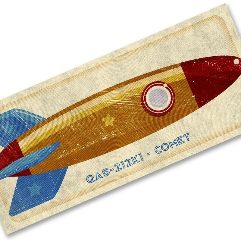 Comet Tin Toy Rocket Box Art Print 7.78 in x 18 in - product images  of