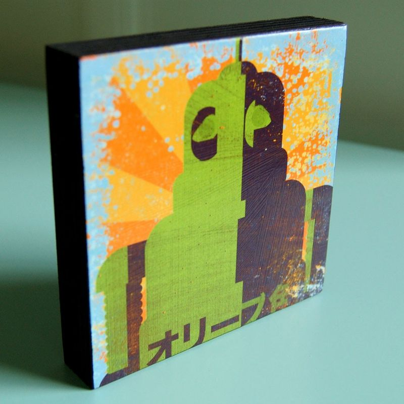 Minibot Series Art Block - Pick the Print - 4 in x 4 in - product images  of