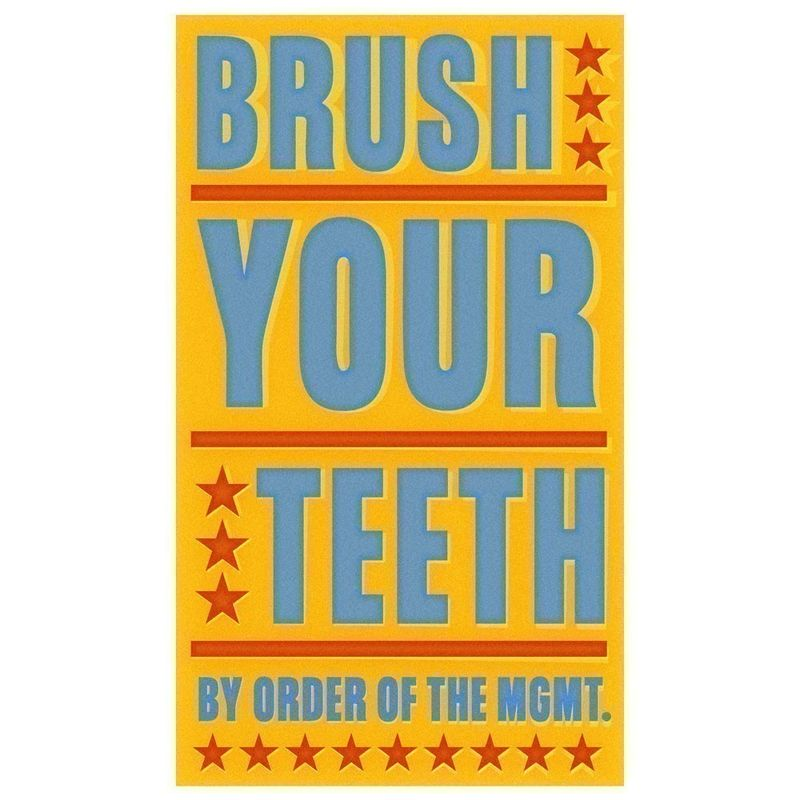 Brush Your Teeth Print - Bathroom Wall Decor - John W. Golden Art