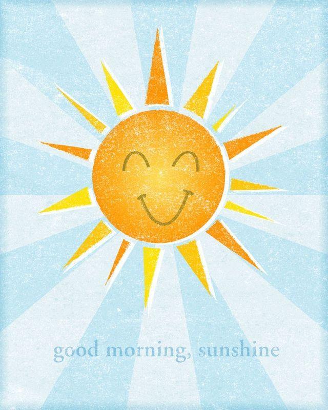 Good Morning Sunshine You Are My Sunshine : Good morning sunshine print in john w golden art