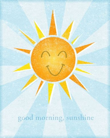 Good,Morning,Sunshine,Print,8,in,x,10,Art,Illustration,digital,please,john_w_golden,good,morning,sunshine,yellow,orange,paper,computer