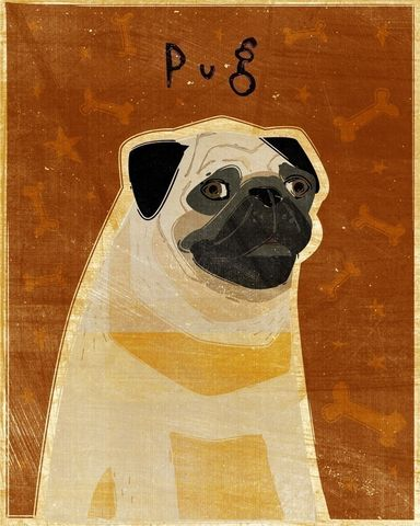Pug,Print,8,in,x,10,Pets,Portrait,Dog,illustration,print,digital,whimsical,cute,dog,animals,animal,pug,art,brown,paper,ink