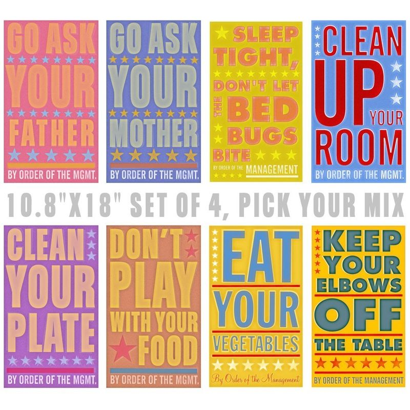 By Order of The Management Set of 4 Prints - Pick your Mix - 10.8 in x 18 in - product images  of