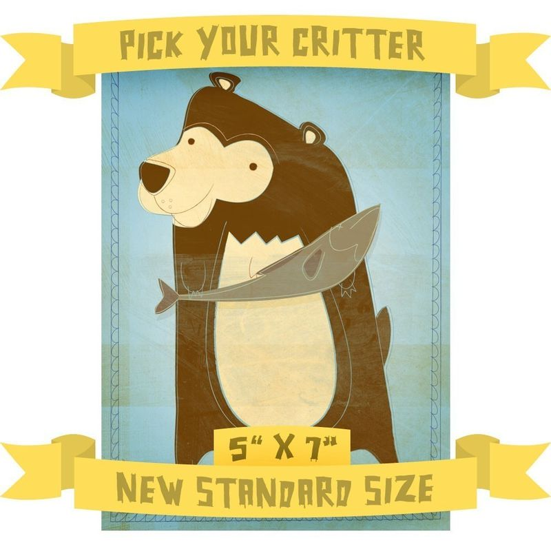 5 in x 7 in - Pick Your Critter - 1 Illustration - product images  of
