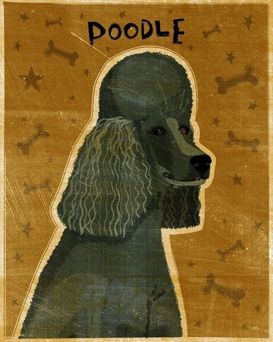 Poodle,Print,8,x,10,Black,Art,Illustration,digital,whimsical,cute,dog,animals,animal,poodle,black,paper,ink