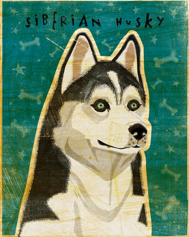 Siberian,Husky,-,Dog,Art,Print,8,in,x,10,Illustration,whimsical,cute,animals,dog_art,pet,puppy,Dog_Print,Siberian_Husky,Husky_Art,paper,ink