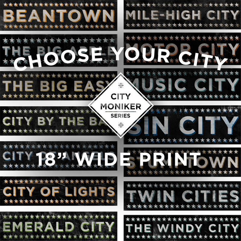 City Moniker Series - Pick the Print - Sign Print 18 in Wide - product images  of