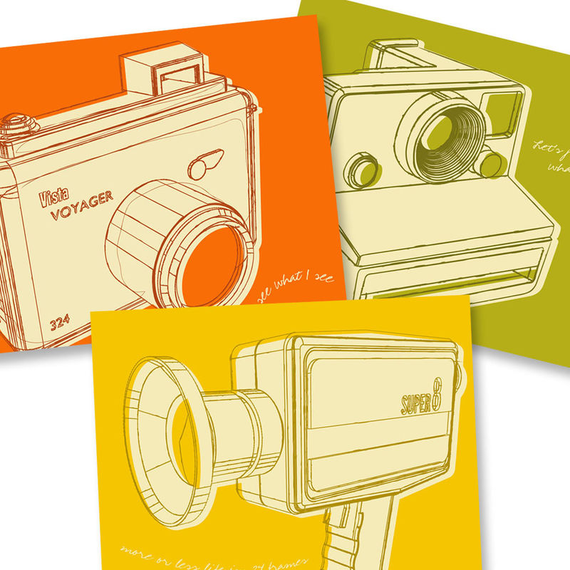 Camera Art - Lunastrella Cameras Set 8x10 Set of Three - product images  of