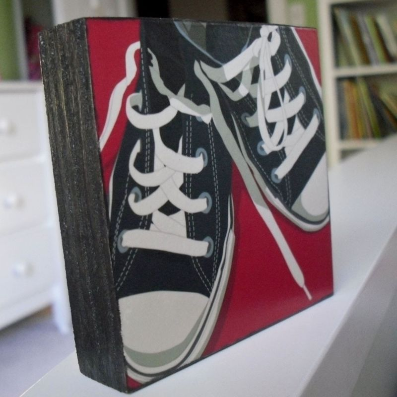 Low Tops Art Block - Pick the Print - 3 in x 3 in - product images  of