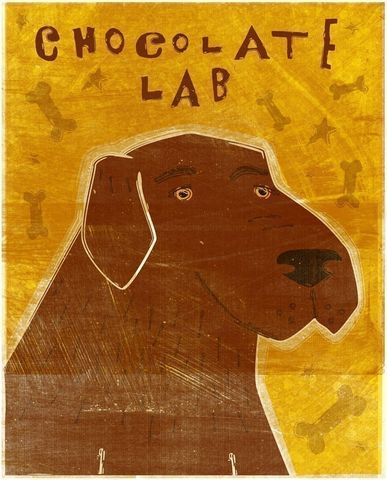 Chocolate,Labrador,Print,8,x,10,Art,Illustration,digital,whimsical,cute,dog,labrador,retriever,animals,animal,chocolate,paper,ink